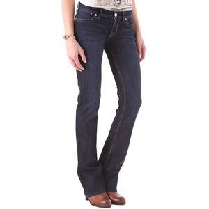 DL1961 Milano Bootcut Jeans Low Rise Dark Wash 28